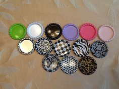 50 1 Double Sided Flattened Bottle caps  You by wholesaleflowers, $7.00