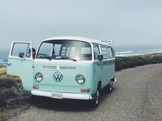 Cruising in a VW bus