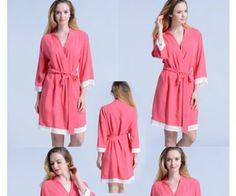 Set of 5 bridesmaid gifts kimono robes-Lace A