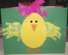 Chick w/ handprints
