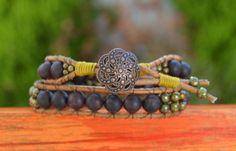 Wrap Bracelets – Boho chic garnet wrap bracelet – a unique product by Doce-Cuentas via en.DaWanda.com