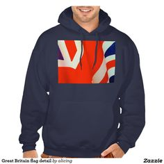 Great Britain flag detail Hooded Sweatshirt