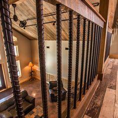 51 Best Ideas for rustic stairs ideas rebar railing Rebar Railing, Diy Stair Railing, Loft Railing, Staircase Railings, Railing Design, Banisters, Stairway Railing Ideas, Banister Ideas, Staircases