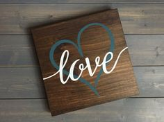 Pick colors Love Sign Hand Painted Nursery decor by RusticStrokes