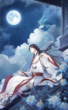 Nikki: Leader of Vermilion Bird Family, Hanfu Style, Celebration of the Lunar Chinese New Year 2017 Manga Anime, Manga Art, Natsume Yuujinchou, Image Manga, Hot Anime Guys, Anime Artwork, Boy Art, Chinese Art, Asian Art