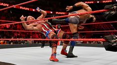 The Olympic Hero clashes with The Modern Day Maharaja, who takes issue with celebrating Ric Flair's birthday on Raw. Jinder Mahal, Kurt Angle, Ric Flair, Wwe Photos, Olympics, Hero, Celebrities, Sports, Wrestling
