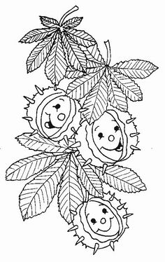 Fall Coloring Pages, Adult Coloring Pages, Coloring Pages For Kids, Coloring Books, Autumn Crafts, Autumn Art, Scary Halloween Coloring Pages, Felted Wool Crafts, Autumn Activities