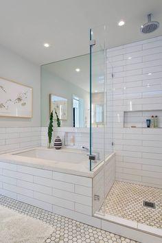 House in Berkeley Hills by Yamamar Design. Modern bath. Oversized subway tile…