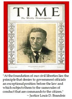 Supreme Court Justice Louis Brandeis on Civil Liberties