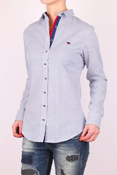 Dámska košeľa bielomodrá Shirt Dress, Mens Tops, Shirts, Dresses, Women, Fashion, Vestidos, Moda, Shirtdress