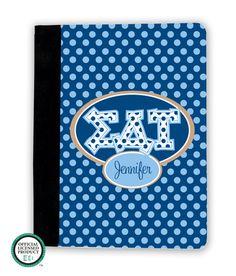 Sigma Delta Tau Letters on Dots iPad Cover