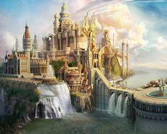 Imagen de castle, fantasy, and art Fantasy City, Fantasy Castle, Fantasy Places, Fantasy Kunst, Sci Fi Fantasy, Fantasy World, Fantasy Town Names, Fantasy Island, High Fantasy