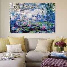 Nympheas by Monet Canvas Print.