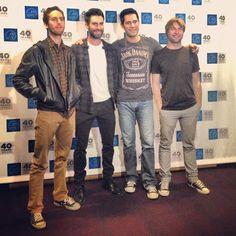 Original founding members of Kara's Flowers & Maroon 5 at an event in LA - @maroon5- #webstagram