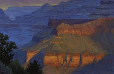 morning light on grand canyon by cody delong oil
