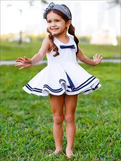 Nautical Swimsuit, Mermaid Swimsuit, Beautiful Little Girls, Cute Little Girls, Two Piece Swimsuits, One Piece Swimsuit, Little Girl Fashion, Kids Fashion, Teen Girl Poses
