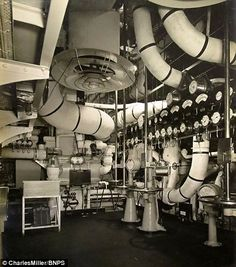 Queen Mary  The engine room was very elaborate....