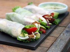 Cobb Salad Summer Rolls