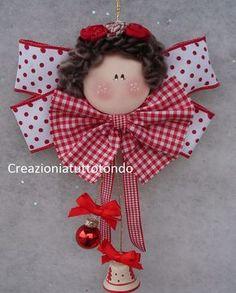 Betty toniolo Angel Ornaments, Handmade Ornaments, Felt Ornaments, Handmade Crafts, Christmas Tree Ornaments, Christmas Decorations, Diy Crafts, Halloween Christmas, Christmas Angels