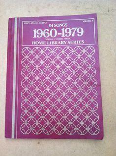 sheet music song book 54 songs    1960-1979  classic by NeonSwann