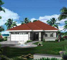 Marvelous Open Floor Plan - 57272HA | 1st Floor Master Suite, Florida, Mediterranean, Narrow Lot, PDF, Southern | Architectural Designs