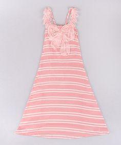 Look what I found on #zulily! Pink & Cream Tank Dress - Toddler & Girls #zulilyfinds