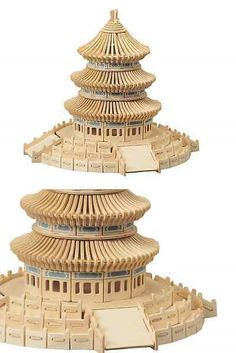Wooden 158752: Temple Of Heaven Educational Model Wooden 3D Puzzle Kids Toy Kit Wood Pieces -> BUY IT NOW ONLY: $34.99 on eBay!