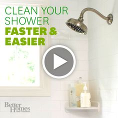 There's and easier way to clean your shower! Learn how here: http://www.bhg.com/videos/m/72222774/how-to-clean-a-shower.htm