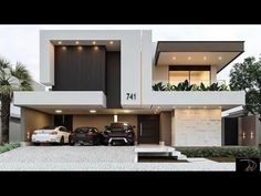 Narrow House Designs, Modern Exterior House Designs, Best Modern House Design, Modern House Facades, Modern Villa Design, Duplex House Design, Modern House Styles, Contemporary House Designs, Contemporary Kitchens