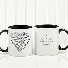 Get up to off all custom mugs - FREE personalization & fast shipping. Make your own custom coffee mugs at Personalization Mall! Create personalized mugs for anyone you love with special messages, names, photos & other custom details. Perfect Mother's Day Gift, Great Gifts For Mom, Mom Gifts, Personalized Garden Stones, Word Art Design, Coffee Heart, Baby Invitations, Personalised Blankets, Personalized Coffee Mugs