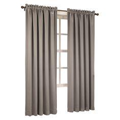 "Seymour Energy Efficient Rod Pocket Curtain Panel Stone (Grey) 54""x63""- Sun Zero"