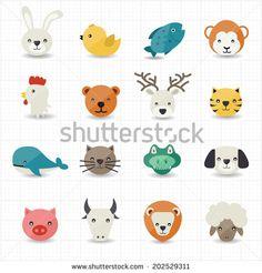 Animal Icons - stock vector