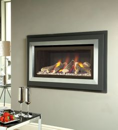 Verine Fontana High Efficiency Hole In The Wall Gas Fire Wall Gas Fires, Electric Fires, Stove Fireplace, Wall Mount, Nice, Modern, Stoves, Fireplaces, Room Ideas