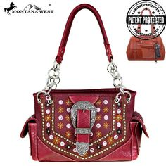 MW445G-8085 Montana West Buckle Concealed Carry Satchel-Burgundy Free Shipping On All Orders Over $79 #Womens #MontanaWest #ConcealedCarryPurses #unspokenfashion #fashion #onlineshopping #boutique #stylish #trending #clothing #shoes