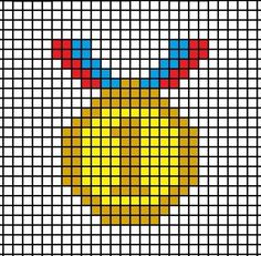 How to cross stitch art. DIY Olympic Gold Medal - Step 1
