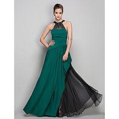 Gorgeous in Green! (Sheath/Column Halter Floor-length Jersey and Chiffon Evening Dress (759985) – Light In The Box.com)