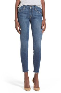 $189  MOTHER+'The Looker' Frayed+Ankle+Jeans+(Girl+Crush)+available+at+#Nordstrom