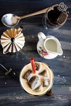 Vanilla Iced Mocha With Coffee Ice Cubes | mygingergarlickitchen.com/ @anupama_dreams