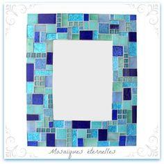 Miroir patchwork bleu