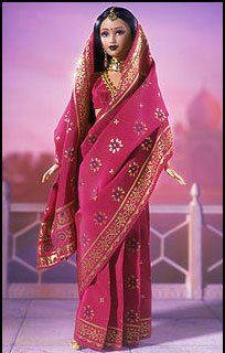 Barbie in saree - a tutorial - I will try this