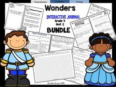This 5th grade, Unit 2 (Weeks 1-5) highly INTERACTIVE journal BUNDLE contains over 35 pages of student activities aligned to the McGraw Hill Wonders series. It is ideal for teaching all of the skills in this Unit in a powerful, student-friendly way!Complete Set Includes:Essential Question Response SheetMini Anchor Charts for each week's Comprehension Skill Graphic Organizers for each week's Comprehension SkillVocabulary Strategy for each weekGenre Study for each weekFoldables/PocketsVocabula...