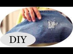 Jeans selber machen DIY-Tutorial für Trendsetter: So kannst du eine angesagte Destroyed-Jeans ganz einfach selber machen 自分でジーンズを破壊する:トレンドジーンズのDIYチュートリアル Diy Destroyed Jeans, Diy Ripped Jeans, Make Your Own Clothes, Diy Clothes, Diy Fashion Tshirt, Jeans Trend, Diy For Men, Mode Inspiration, Diy Tutorial
