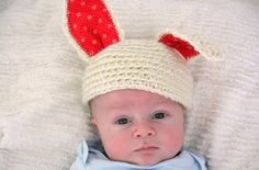 crochet rabbit hat - by 'still parenting'