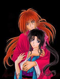 Kenshin and Kaoru by HitokiriSakura2012