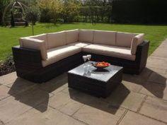porto rattan garden or conservatory furniture corner sofa set amazoncouk