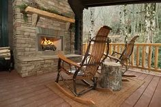 Come sit at Creekside cabin and listen to the rushing water! Book at www.cherokeemountaincabins.com or call 828-321-2010