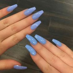 Nail design: Best Acrylic Nails for 2018 – 54 Trending Acrylic Nail DesignsMost Popular Ways To Light Blue Acrylic Nails Coffin Long 2250 Awesome Coffin Nail Designs You'll Flip For Baby Blues Sweet Pastel Blue Long NailsCoffin acrylic nails are Gorgeous Nails, Pretty Nails, Perfect Nails, Fabulous Nails, How To Do Nails, My Nails, Uv Gel Nails, Matte Nails, Stiletto Nails