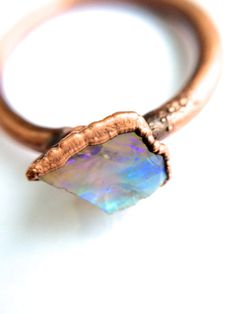 Electroformed Opal Ring, $67