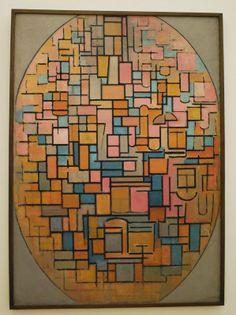 Mondrian, Composition dans un ovale, 1914, Amsterdam, Stedelijk Museum