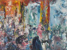 "Jack Butler Yeats, ""The Talkers"" Sotheby's Oct 21 2015 Jack B, Irish Art, Impressionist, Butler, Art History, Modern Art, Abstract Art, Auction, Prints"